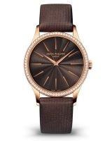 Женские классические часы Patek Philippe Calatrava 4897R-001 с бриллиантами, ультратонкие