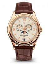 Мужские наручные часы Patek Philippe Complications 5146R-001 в розовом золоте с годовым календарем, светлый циферблат, кожа кроко.