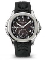 Мужские спортивные часы Patek Philippe Aquanaut 5164A-001 в стальном корпусе, черный циферблат, черный каучук.