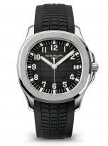 Мужские спортивные часы Patek Philippe Aquanaut 5167A-001 стальной корпус, черный циферблат, черный каучук