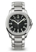 Мужские спортивные часы Patek Philippe Aquanaut 5167-1A-001 в стальном корпусе, черный циферблат, стальной браслет.