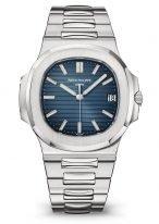 Мужские и женские спортивные часы из коллекции Nautilus на стальном браслете с синим циферблатом Patek Philippe 5711/1A-010