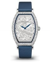 Женские часы в форме бочонка, с бриллиантами, в белом золоте, циферблат бриллиантовый Patek Philippe 7099G-001