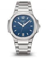 Женские спортивные часы Patek Philippe Nautilus 7118-1A-001 стальной корпус на стальном браслете с синим циферблатом