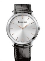 Мужские классические часы Audemars Piguet Jules Audemars 15180BC_OO_A002CR_01 в белом золоте, со светлым циферблатом, на кожаном ремешке.