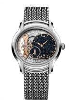 Женские классические часы Audemars Piguet Millenary 77244BC_GG_1272BC_01 в сатинированном белом золоте с авантюриновым циферблатом, браслетом из белого золота.