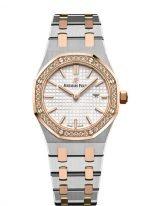 Женские спортивные часы Audemars Piguet Royal Oak 67651SR_ZZ_1261SR_01 биколорный корпус с бриллиантовым безелем, светлый циферблат, биколорный браслет.
