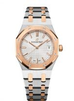 Женские спортивные часы Audemars Piguet Royal Oak 77350SR_OO_1261SR_01 в биколорном корпусе (сталь/розовое золото), светлый циферблат, биколорный браслет.