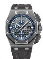 Мужские спортивные часы Audemars Piguet Royal Oak Offshore 26405CG_OO_A004CA_01 хронограф в керамическом корпусе, серый циферблат, серый каучук.