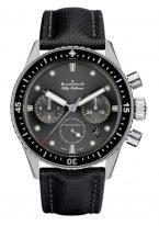 Мужские спортивные часы Blancpain Fifty Fathoms 5200 0130 B52A хронограф в черном керамическом корпусе, черный циферблат, черный парусиновый ремешок.