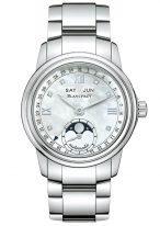 Женские спортивные часы Blancpain Women-2360 1191A 71A годовой календарь с фазами Луны с перламутровым циферблатом, бриллиантовыми индексами, на стальном браслете.