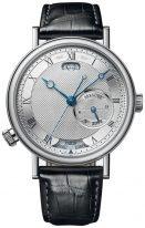 Мужские классические наручные часы Breguet Classique-5727BB_12_9ZU мировое время в белом золоте с гильошированным циферблатом и ремешком кроко.