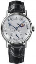 Мужские классические наручные часы Breguet Classique-7137BB_11_9V6 в белом золоте, гильошированный циферблат, фазы Луны, коричневая кроко.