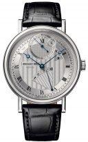 Мужские классические наручные часы Breguet Classique-7727BB_12_9WU в белом золоте, высокочастотный спуск 10 Гц, гильошированный циферблат, черная кроко.