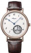 Мужские классические часы Breguet Grand Complications 5367BR_29_9WU турбийон в розовом золоте, эмалевый циферблат, коричневая кожа кроко.