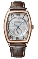 Мужские классические часы Breguet Heritage 5410BR_12_9VV в розовом золоте с большой датой, гильошированным циферблатом, люминесцентными стрелками, коричневым ремешком кроко