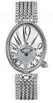 Женские классические часы Breguet Reine de Naples 8918BB_58_J20_D000 в белом золоте с бриллиантовым рантом, перламутровый циферблат с арабскими цифрами, браслет из белого золота.