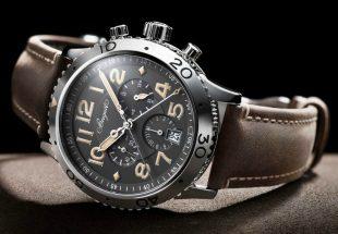 Мужские часы Breguet Type XXI в стальном корпусе на кожаном ремешке