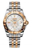 Женские наручные часы Breitling Galactic -C37330121A2C1 в биколорном корпусе, с перламутровым циферблатом и бриллиантовыми индексами, биколорным браслетом.