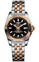 Женские наручные часы Breitling Galactic -C7234812_BF32_791C в биколорном корпусе (сталь/розовое золото) с черным циферблатом, биколорный браслет (сталь/розовое золото)