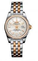 Женские наручные часы Breitling Galactic -C72348531A1C1 в биколорном корпусе (сталь/розовое золото), бриллиантовый безель, перламутровый циферблат с бриллиантовыми индексами, биколорный браслет.