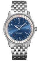 Мужские/женские наручные часы Breitling Navitimer A17325211C1A1 в стальном корпусе с синим циферблатом, стальной браслет