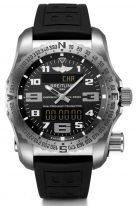 Мужские спортивные часы Breitling Professional E7632522_BC02_156S_E20DSA_4 с радиочастотным маяком, вечным календарем, хронографом и мировым временем в титановом корпусе, черный циферблат, титановый браслет.