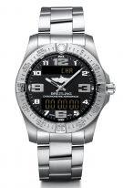 Мужские спортивные часы Breitling Professional E79363101B1E1 в титановом корпусе с функцией будильника, хронографа с черным циферблатом, с титановым браслетом.