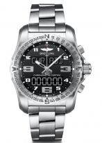 Мужские спортивные часы Breitling Professional-EB5010221B1E1 в титановом корпусе с функцией мирового времени, будильника, хронографа с черным циферблатом, титановым браслетом.