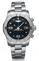 Мужские спортивные часы Breitling Professional EB5510H21B1E1 в титановом браслете с функцией хронографа, будильника, мирового времени, с черным циферблатом, титановым браслетом.