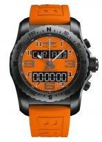 Мужские спортивные часы Breitling Professional VB50106A1O1S1 электронные, в корпусе из черненного титана, оранжевый циферблат , оранжевый каучук