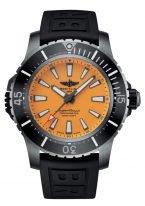 Мужские спортивные часы Breitling Superocean E17369241I1S1 в титановом корпусе с черным керамическим рантом, желтый циферблат, черный каучук