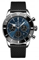 Мужские спортивные часы Breitling Superocean Heritage AB0162121C1S1 хронограф в стальном корпусе, темно-синий циферблат, черный каучук.