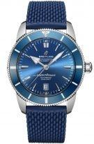 Мужские спортивные часы Breitling Superocean Heritage AB2020161C1S1 в стальном корпусе с датой, синий циферблат, синий каучук