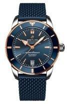 Мужские спортивные часы Breitling Superocean Heritage UB2010161C1S1 с датой в биколорном корпусе, с темно-синим циферблатом, темно-синим каучуком.
