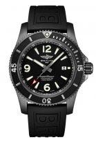 Мужские спортивные часы Breitling Superocean M17368B71B1S1 с датой в черненном стальном корпусе, черный циферблат, черный каучук