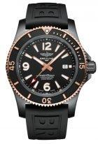 Мужские спортивные часы Breitling Superocean U17368221B1S1 в биколорном корпусе (черненная сталь с розовым золотом), черный циферблат, черный каучук.