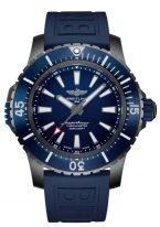 Мужские спортивные часы Breitling Superocean V17369161C1S1 в титановом корпусе с синим керамическим рантом, синий циферблат, синий каучук