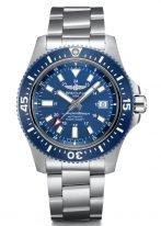 Мужские спортивные часы Breitling Superocean -Y17393161C1A1 со временем второго часового пояса в стальном корпусе, черный циферблат, стальной браслет.