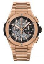 Мужские часы Hublot Big Bang 451_OX_1180_OX хронограф в розовом золоте, на скелетированном темном циферблате с золотыми часовыми метками и широкими стрелками, покрытые люминесцентом, браслет из розового золота