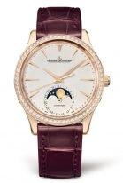 Женские классические часы Jaeger Le Coultre Master 125 25 01 в розовом золоте с бриллиантами, с датой и фазами Луны, светлый циферблат, кожа кроко.