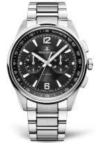 Мужские спортивные часы Jaeger Le Coultre Polaris 902 81 70 в стальном корпусе, хронограф, черный циферблат, стальной браслет.