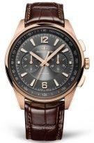 Мужские спортивные часы Jaeger Le Coultre Polaris-9022450 в розовом золоте, хронограф, антрацидный циферблат, коричневая кожа кроко.
