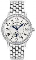 Мужские классические часы Jaeger-leCoultre Rendez Vous-3448120 стальной корпус с бриллиантовым рантом, индикатор день/ночь, гильошированный циферблат, стальной браслет.