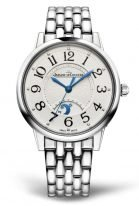 Женские классические часы Jaeger Le Coultre Rendez Vous 344 81 10 в стальном корпусе, указатель день/ночь, серебристый циферблат, стальной браслет.