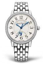 Женские классические часы Jaeger Le Coultre Rendez Vous 344 81 30 в стальном корпусе с бриллиантовым рантом, указатель день/ночь, светлый циферблат, стальной браслет.