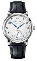 Мужские классические часы Lange Sohne 1815 235 026 в белом золоте, светлый циферблат с воронеными стрелками, черная кожа кроко.