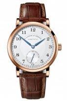 Мужские классические часы Lange&Sohne 1815- 235 032 в розовом золоте со светлым циферблатом на коричневой коже