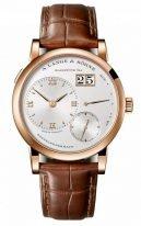 Мужские классические часы Lange&Sohne Lange1- 191 032 в розовом золоте на ремешке кроко