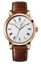 Мужские классические часы Lange Sohne Richard Lange 232 032 в розовом золоте, светлый циферблат, кожа кроко.